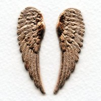 Highly Detailed Rose Gold Plated Wings 46mm (1 Pair)