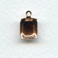 *Octagon Shape Setting Pendants 10x8mm Rose Gold Plated (12)