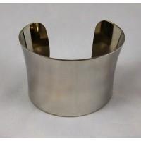 Smooth Concave Bright Silver Color 49mm Cuff (1)