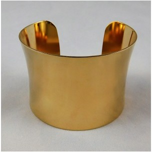 Smooth Concave Bright Gold Plated 49mm Cuff (1)