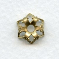 Gothic Ornate Bead Caps Raw Brass 12mm