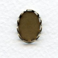 Lace Edge Settings 14x10mm Oxidized Brass (12)