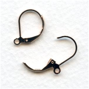 Lever Back Earring Findings with Loop Rose Gold Plated (24)