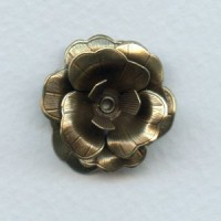 Composite Flower Stamping Oxidized Brass (1)