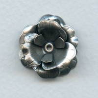 Composite Flower Stamping Oxidized Silver (1)