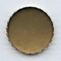Lace Edge Settings Round 35mm Oxidized Brass (6)