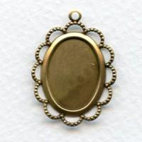 Filigree 18x13mm Settings Oxidized Brass (6)