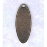^Logo Tags Oxidized Copper 17x7mm