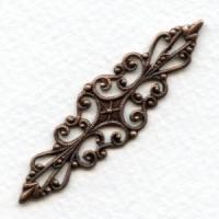 Splendid Bar Style Filigree Oxidized Copper (1)