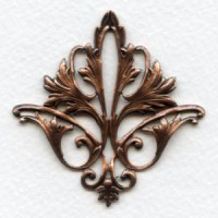 Fleur-de-lys Openwork Stamping Oxidized Copper (1)