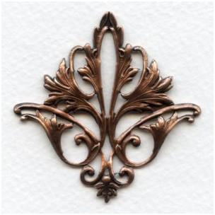 Fleur-de-lys Openwork Stamping Oxidized Copper (1)
