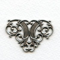 Floral Ornamental Openwork Stampings Oxidized Silver (4)