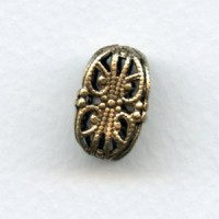 Ornate Filigree 15x12mm Beads Oxidized Brass (3)