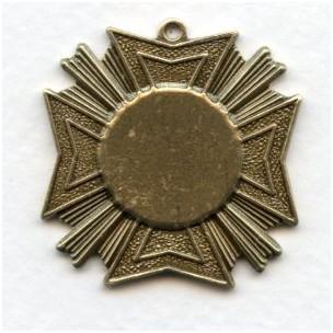 Grand Royal Medallion Pendant Oxidized Brass (1)