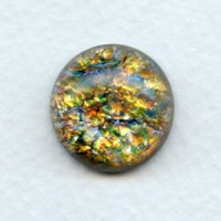 Multi-Color Glass Opal Cabochon 18mm European (1)