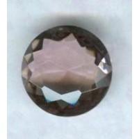 ^Light Amethyst Glass Round Jewelry Stone 18mm