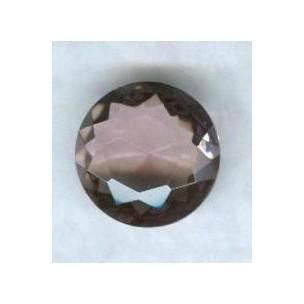 Light Amethyst Glass Round Jewelry Stone 18mm