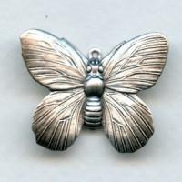 Butterfly Pendant Raised Wings Oxidized Silver (4)