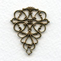 Fabulous Filigree Connector Oxidized Brass 33x22mm (4)