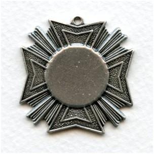 Grand Royal Medallion Pendant Oxidized Silver (1)