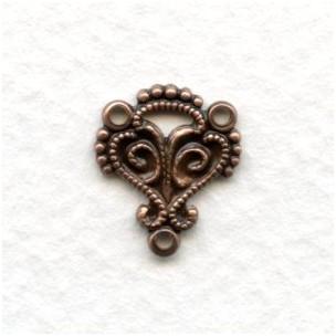 Moorish Influence Connectors Oxidized Copper 14mm (12)