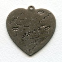 I Love You in Many Languages Heart Charm Silver (1)