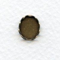 Lace Edge Settings 10x8mm Oxidized Brass (12)