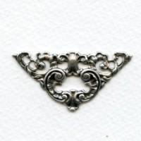 Dramatic Grand Corner Embellishments Oxidized Silver (4)