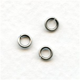 Round Jump Rings 5mm Oxidized Silver (100+)