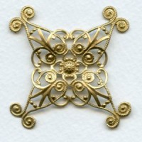Ornate 48mm Filigree Oxidized Brass