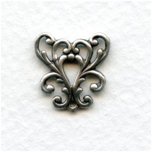Feminine Filigree Y-Connector Oxidized Silver (6)