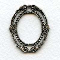Filigree Detailed Framework Stamping Oxidized Silver (2)