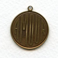 Amour French Charms Oxidized Brass 26mm (3)
