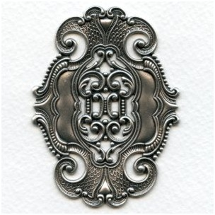 Elegant Style Dramatic Stamping Oxidized Silver (1)