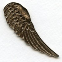 Detailed Large Right Wings Oxidized Brass 65mm (2)