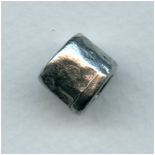 ^Chunky Barrel Bead Antique Pewter 10x12mm (1)