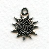 Sun Swirl Pendant Oxidized Silver Pewter (1)