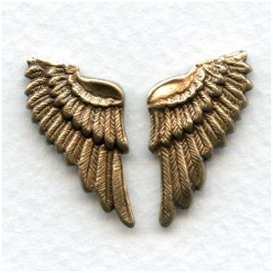 These Wings Look Real! Oxidized Brass (6 sets)