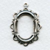 Openwork Fancy Edge Setting Oval 25x18mm Silver (1)