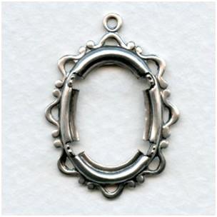 Openwork Fancy 18x13mm Setting Oxidized Silver (1)