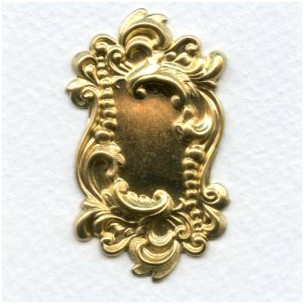 Rectangle Shaped Plaque Raw Brass 49mm (2)