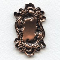 Rectangle Shaped Plaques Oxidized Copper 49mm (2)
