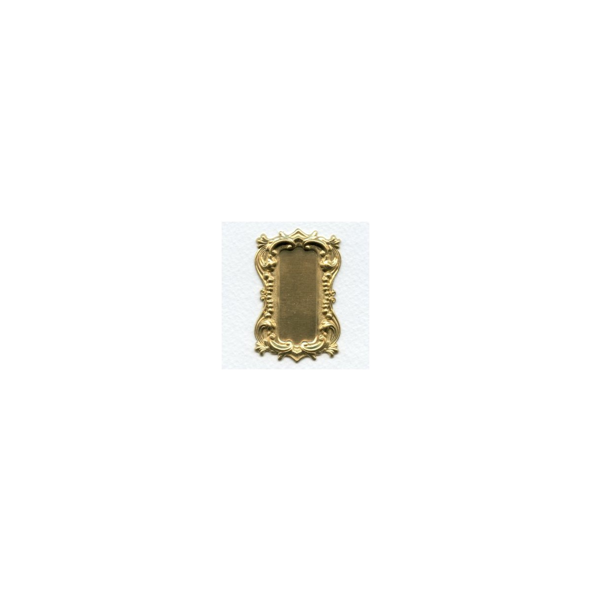 Long Rectangle Shaped Plaques Raw Brass 57mm (2)