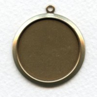 Bold Simple Settings 27mm Oxidized Brass (2)