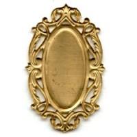 Splendid Oval Openwork Settings Raw Brass (2)