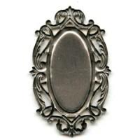 Splendid Oval Openwork Settings Oxidized Silver (2)