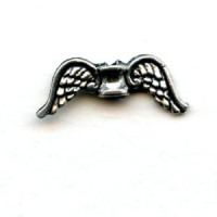 Angel Wing Spacer Beads Antique Silver Pewter (6)
