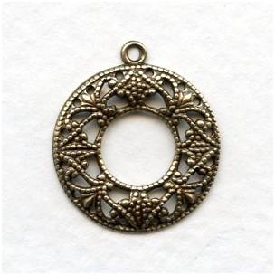 Round Feminine Hoops Oxidized Brass (12)