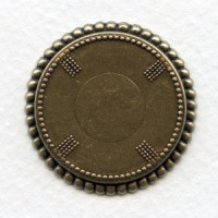 Oxidized Brass Beaded Edge 25mm Setting Bases (3)