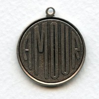 Amour French Charms Oxidized Silver 26mm (3)
